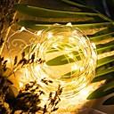 זול חוט נורות לד-LOENDE 5m חוטי תאורה 50 נוריות לבן חם / RGB / לבן Party / דקורטיבי / חתונה סוללות מופעל
