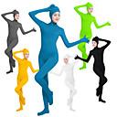 ราคาถูก ชุด Zentai-ชุดเซนไท ชุดเสื้อกางเกงรัดรูปที่ติดกัน ชุดผิวหนัง นินจา คอสเพลย์ ผู้ใหญ่ Lycra® คอสเพลย์และคอสตูม เพศ สำหรับผู้หญิง สีดำ / สีเขียว / ขาว สีทึบ / ความยืดหยุ่นสูง