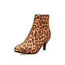 povoljno Ženske čizme-Žene Čizme Stiletto potpetica Krakova Toe Eko koža Čizme gležnjače / do gležnja Uglađeni / minimalizam Proljeće & Jesen / Jesen zima Badem / Obala / Bijela / Leopard