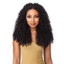 povoljno Perike s ljudskom kosom-Ljudska kosa Full Lace Perika Srednji dio stil Brazilska kosa Kinky Curly Crna Perika 130% Gustoća kose Žene Žene Dug Perike s ljudskom kosom Clytie