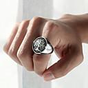 hesapli Erkek Yüzükleri-Erkek Band Yüzük 1pc Gümüş Paslanmaz Çelik Şık / moda Parti / Günlük / Karnaval Kostüm takısı / Hayat Ağacı