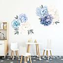 זול מדבקות קיר-מדבקות קיר פרחים כחולים אופנה - מדבקות קיר מטוס פרחי / בוטני / חדר לימוד נוף / משרד / חדר אוכל / מטבח