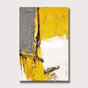 abordables Peintures Abstraites-Peinture à l'huile Hang-peint Peint à la main - Abstrait Moderne Sans cadre intérieur