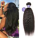 povoljno Ekstenzije od ljudske kose-3 paketa Brazilska kosa Yaki Straight Virgin kosa 100% Remy kose tkanja Bundle Ljudske kose plete Produžetak Bundle kose 8-28 inch Prirodna boja Isprepliće ljudske kose Party proširenje Sexy Lady