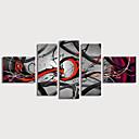 halpa Tulosteet-Hang-Painted öljymaalaus Maalattu - Abstrakti Moderni Sisällytä Inner Frame / 5 paneeli