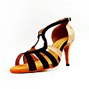 povoljno Cipele za latino plesove-Žene Plesne cipele Sintetika Cipele za latino plesove Štikle Kubanska potpetica Moguće personalizirati Crno Zlato / Seksi blagdanski kostimi / Koža / Vježbanje