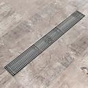 hesapli Gider Kapakları-Gider Yeni Dizayn Çağdaş Paslanmaz Çelik 1pc - Banyo Yerden Monte Edilmiş