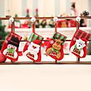 povoljno Božićni ukrasi-4p kreativne viseće božićne čarape za ukrašavanje doma / praznične ukrase novogodišnje