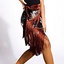 povoljno Odjeća za latino plesove-Latino ples Donji Žene Trening Umjetna svila S resicama Suknje