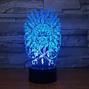 זול אורות 3D הלילה-מנורת 3d הודי ראשי 7 צבע הוביל מנורות לילה לילדים שולחן usb led מגע לילה אור לישון קישוט התינוק