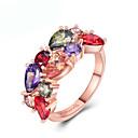 povoljno Prstenje-Žene Prsten Kubični Zirconia 1pc Rose Gold Pozlata od crvenog zlata Jedinstven dizajn Europska pomodan Dar Dnevno Jewelry Cvjetni Tema Slatko