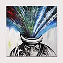 halpa Tulosteet-Hang-Painted öljymaalaus Maalattu - Abstrakti Ihmiset Moderni Ilman Inner Frame