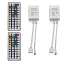 Недорогие Цоколи и коннекторы-2pcs 12 V / 5 V / Работает от USB WiFi / Дистанционно управляемый / Газонокосилка пластик Контроллер для RGB LED Strip Light / для светодиодной полосы света