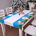 זול כיסויי שולחן-קישוטים לחג המולד חג המולד PVC מלבני מודרני, חדשני קישוט חג המולד