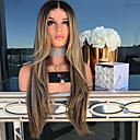 זול פיאות תחרה משיער אנושי-פאות סינתטיות Body Wave סגנון חלק אמצעי הוכן באמצעות מכונה פאה מוזהב בלונדינית שיער סינטטי 26 אִינְטשׁ בגדי ריקוד נשים נשים מוזהב פאה ארוך