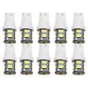 זול תאורה ללוחית הרישוי-10 יחידות t10 192 194 168 w5w נורות led 10 smd 2835 אורות זנב מכונית אורות לוחית רישוי מנורת כיפה לבן dc 12 v