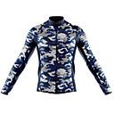 """זול חולצות רכיבת אופניים-21Grams להסוות אמריקאי / ארה""""ב בגדי ריקוד גברים שרוול ארוך חולצת ג'רסי לרכיבה - ירוק יער שחור / לבן הסוואה אופניים ג'רזי צמרות שמור על חום הגוף עמידות UV נושם ספורט חורף 100% פוליאסטר / סטרצ'י (נמתח)"""