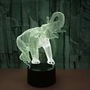 זול אורות 3D הלילה-מתנת יום הולדת לילה אור פיל שנהב 3d led לילה אור חידוש הוביל בעלי החיים אור 7 צבע led מנורת שולחן מגע