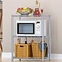 זול צנצנות ותיבות-יחידת מדפי מדף לתנור מיקרוגל, מדף אחסון נירוסטה מתכוונן בן 3 שכבות