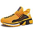 זול נעלי ספורט לגברים-בגדי ריקוד גברים נעלי נוחות רשת סתיו חורף נעלי אתלטיקה ריצה שחור / לבן / צהוב