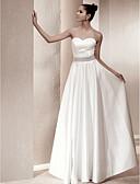 Χαμηλού Κόστους Νυφικά-Γραμμή Α Καρδιά Μακρύ Σατέν Φορέματα γάμου φτιαγμένα στο μέτρο με Κρυστάλλινη λεπτομέρεια / Ζώνη / Κορδέλα με LAN TING BRIDE®