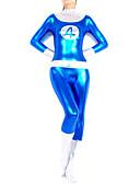abordables Pantalones para Mujer-Disfraces Zentai Brillosos Ninja Zentai Disfraces de Cosplay Estampado / Retazos Leotardo / Pijama Mono / Zentai / Traje de Gato Espándex Mujer Halloween / Alta elasticidad