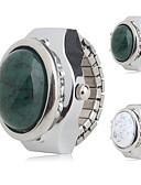 abordables Pantalones para Mujer-Mujer Reloj de Anillo Japonés Cuarzo Reloj Casual Aleación Banda Analógico Encanto Moda Plata - Blanco Verde