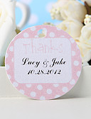 "cheap Wedding Gifts-Personalized Favor Tag - Pink ""Thanks"" (Set of 36) Wedding Favors"