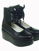 hesapli Korseler-Ayakkabılar Gotik Lolita Lolita Platform Ayakkabılar Solid 7 CM Uyumluluk PU Deri/Poliüretan Deri Poliüretan Deri