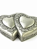 رخيصةأون هدايا-مربع والمجوهرات الفريدة مزدوج الشخصية سبائك القصدير على شكل قلب المرأة