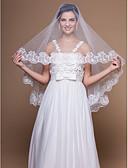 preiswerte Hochzeitsschleier-Einschichtig Spitzen-Saum Hochzeitsschleier Ellbogenlange Schleier Mit Applikationen 59,06 in (150cm) Tüll A-linie,Ball Kleid,