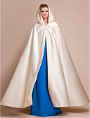 cheap Wedding Wraps-Satin Wedding / Party Evening Wedding  Wraps / Hoods & Ponchos With Capes
