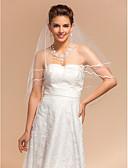 """זול הינומות חתונה-שכבה אחת קצה עפרון הינומות חתונה צעיפי מרפק עם 59.06 אינץ' (150 ס""""מ) טול קו A, שמלת נשף, נסיכה, חצוצרה / בת הים, נדן / טור / סגלגל"""