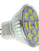 abordables Chemises pour Homme-2 W Spot LED 250-300 lm GU4(MR11) MR11 12 Perles LED SMD 5730 Blanc Naturel 12 V