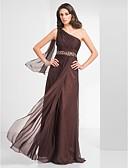 povoljno Večernje haljine-Kroj uz tijelo Na jedno rame Do poda Šifon Prom / Formalna večer Haljina s Perlica / Nabrano po TS Couture®