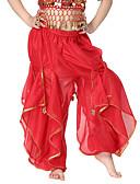 hesapli Göbek Dansı Giysileri-Göbek Dansı Alt Giyimler Eğitim Şifon Payet / Madeni Para Doğal Pantalonlar