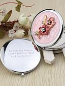 billige Praktiske gaver-Bryllup jubileum Forlovelsesfest Utdrikningslag Bursdagsfest Chrome Compacts Blomster Tema
