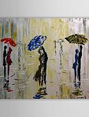 billige Blomsterpikekjoler-Hang malte oljemaleri Håndmalte - Mennesker Klassisk Inkluder indre ramme / Stretched Canvas