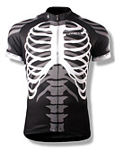 cheap Men's Tees & Tank Tops-SPAKCT Men's Short Sleeve Cycling Jersey Skull Bike Jersey, Quick Dry, Breathable Polyester