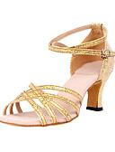 ieftine Rochii de Banchet-Pentru femei Pantofi Dans Latin / Sală Dans Sclipici Spumant Călcâi Toc Personalizat Personalizabili Pantofi de dans Argintiu / Argintiu / Auriu / Piele