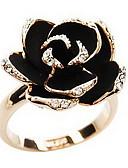 זול תחתוני גברים אקזוטיים-בגדי ריקוד נשים טבעת הצהרה - אבן נוצצת, סגסוגת ורדים, פרח וינטאג', ארופאי, פתוח מתכוונן כסף / מוזהב עבור Party יומי קזו'אל
