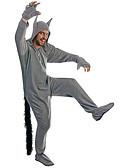 رخيصةأون ربطات العنق للرجال-للبالغين بيجاما كيجورومي ذئب بيجاما ونزي كوستيوم البوليستر تأثيري إلى ملابس للنوم الحيوانات رسوم متحركة هالوين عطلة / عيد
