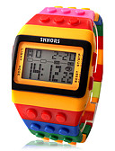 billige Nattøy til damer-Dame Digital Watch Digital Alarm Kalender Kronograf Plast Band Digital Sukkertøy Mote Ull Oransje To år Batteri Levetid / LCD / Desay CR2025