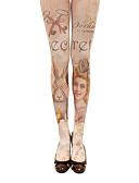 abordables Panties-Calcetines y Medias Amaloli Lolita Lolita Mujer Accesorios de Lolita Estampado Medias de Lencería Poliéster Algodón Disfraces de Halloween / Alta elasticidad