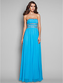 cheap Bridesmaid Dresses-Ball Gown Strapless Floor Length Chiffon Dress with Beading / Sequin / Draping by TS Couture®