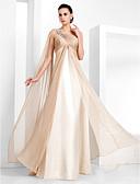 Χαμηλού Κόστους Βραδινά Φορέματα-Ίσια Γραμμή Ένας Ώμος Μακρύ Σιφόν Επίσημο Βραδινό Φόρεμα με Κρυστάλλινη λεπτομέρεια / Χιαστί με TS Couture®