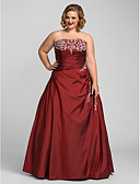 cheap Mother of the Bride Dresses-Ball Gown Strapless Floor Length Taffeta Open Back Prom / Formal Evening Dress with Beading / Embroidery by TS Couture®