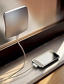 baratos Relógio Elegante-Carregador solar alternativo externo solar do telefone do usb do painel 1pc