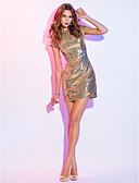 povoljno Koktel haljine-Kroj uz tijelo Scoop Neck Kratki / mini Sa šljokicama Sjaji i svijetli Koktel zabava Haljina s Šljokice / Falte po TS Couture®