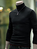 cheap Men's Sweaters & Cardigans-Men's Weekend Long Sleeve Wool Slim Pullover - Solid Colored Turtleneck